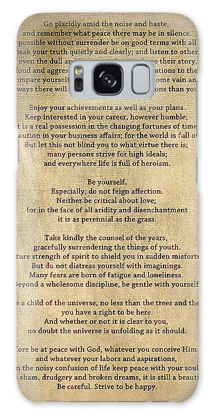 Desiderata - Scrubbed Metal Galaxy Case