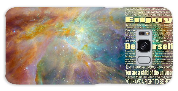 Desiderata - Space Galaxy Case by Ginny Gaura