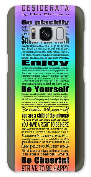 Desiderata - Subway Style - Rainbow Galaxy Case by Ginny Gaura