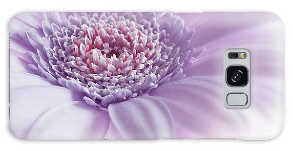 Close Up White Pink Flowers Macro Photography Art Galaxy Case by Artecco Fine Art Photography