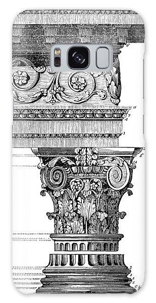 Detail Of A Corinthian Column And Frieze I Galaxy Case