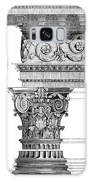 Detail Of A Corinthian Column And Frieze II Galaxy Case