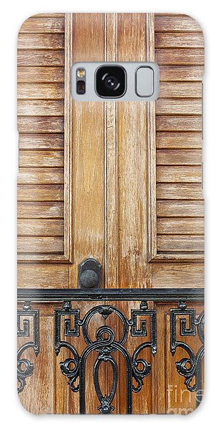 Detail Of Wooden Door And Wrought Iron In Old San Juan Puerto Ric Galaxy Case