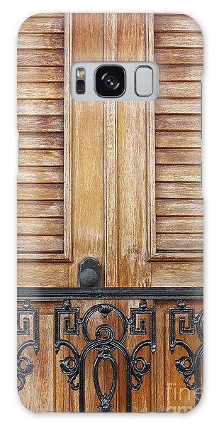 Detail Of Wooden Door And Wrought Iron In Old San Juan Puerto Ric Galaxy Case