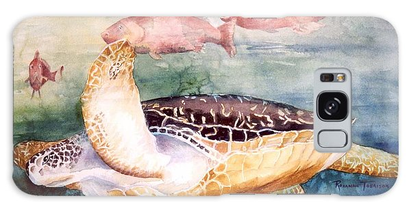 Determined - Loggerhead Sea Turtle Galaxy Case by Roxanne Tobaison