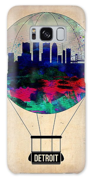 City Scenes Galaxy S8 Case - Detroit Air Balloon by Naxart Studio