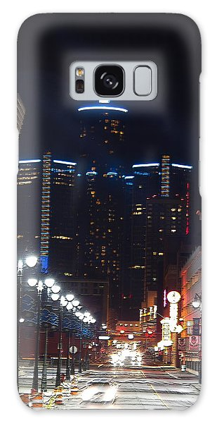 Detroit Between Tiger And Lion Galaxy Case