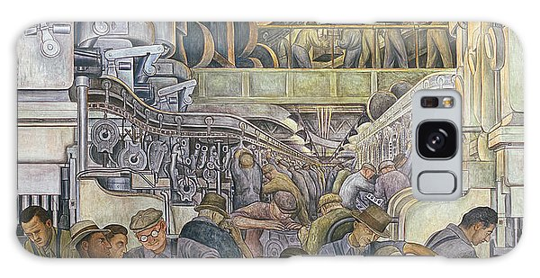 Industry Galaxy Case - Detroit Industry  North Wall by Diego Rivera
