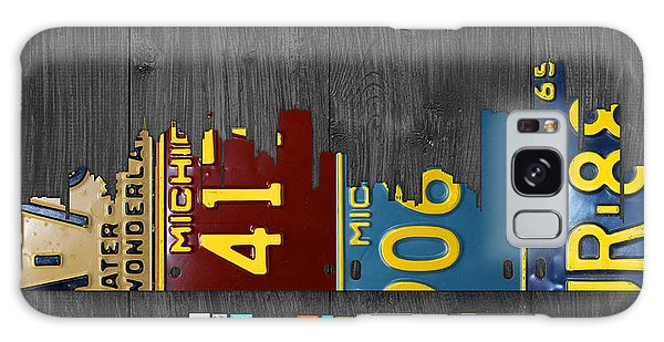 Motor City Galaxy Case - Detroit Michigan City Skyline License Plate Art The Motor City by Design Turnpike