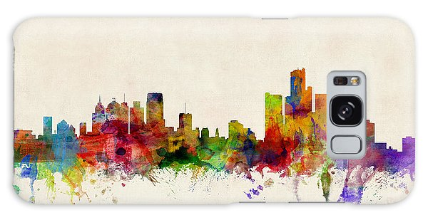 Poster Galaxy Case - Detroit Michigan Skyline by Michael Tompsett