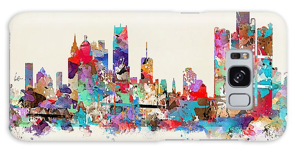 Detroit Michigan Skyline Square Galaxy Case