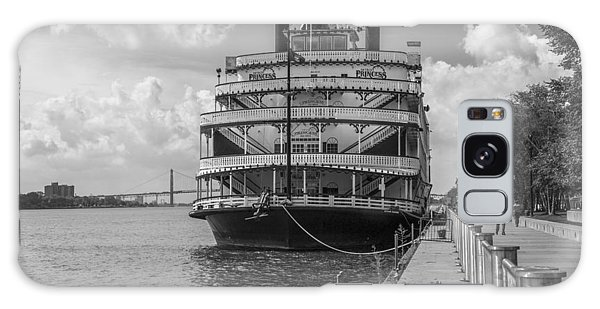 Detroit River Princess Black And White  Galaxy Case