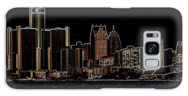 Detroit Skyline Galaxy Case