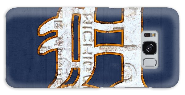 Usa Galaxy Case - Detroit Tigers Baseball Old English D Logo License Plate Art by Design Turnpike