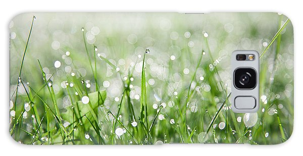 Dew Drenched Morning Galaxy Case by Jan Bickerton