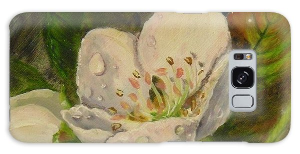 Dew Of Pear's Blooms Galaxy Case