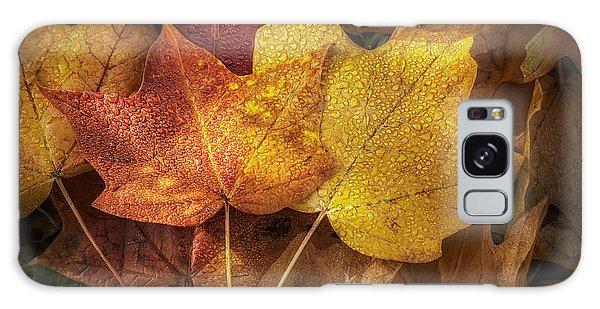 Dew On Autumn Leaves Galaxy Case