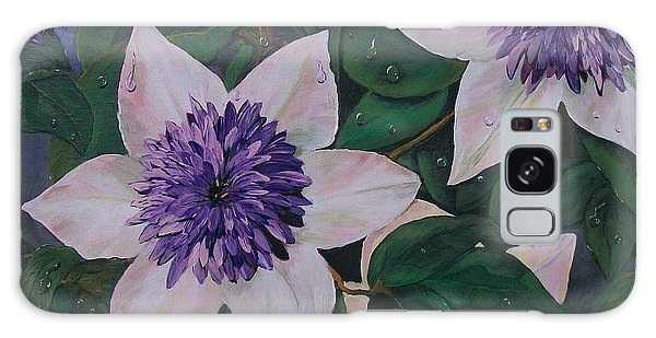 Clematis After The Rain Galaxy Case
