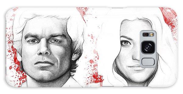 Portraiture Galaxy Case - Dexter And Debra Morgan by Olga Shvartsur