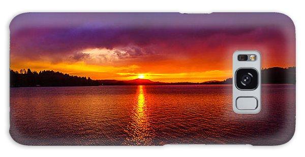 Dexter Lake Oregon Sunset 2 Galaxy Case