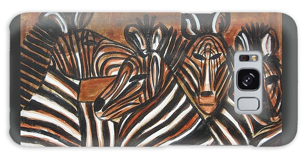 Zebra Bar Crowd Galaxy Case