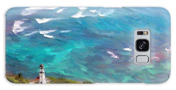 Diamond Head Lighthouse View Galaxy Case