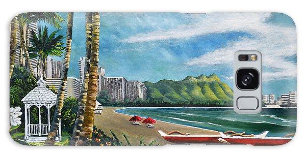 Diamond Head Waikiki Galaxy Case