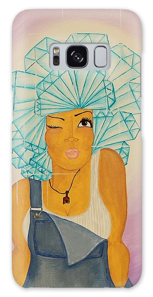 Galaxy Case featuring the painting Diamond In The Rough by Aliya Michelle