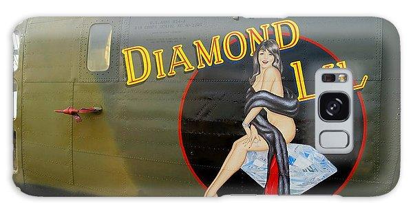 Diamond Lil B-24 Bomber Galaxy Case by Amy McDaniel
