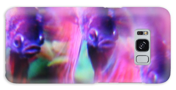 Digital Abstract With Fish 6 Galaxy Case