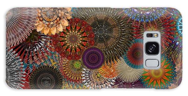 Digital Flowers 001 Galaxy Case by Stuart Turnbull