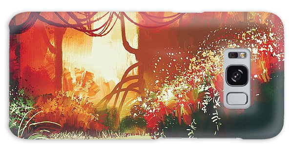 Bright Galaxy Case - Digital Painting Of Fantasy Autumn by Tithi Luadthong