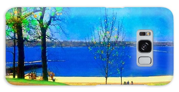 Landscapes Galaxy Case - #digitalart #landscape #beach #park by Robin Mead