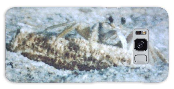 Beach Crab Snacking Galaxy Case by Belinda Lee