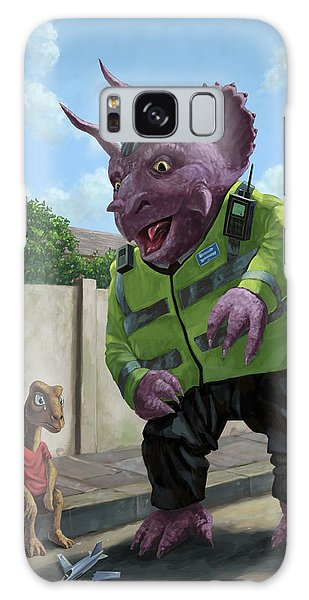 Dinosaur Community Policeman Helping Youngster Galaxy Case by Martin Davey