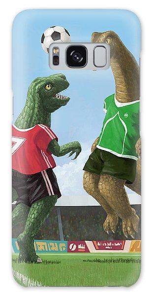 Dinosaur Football Sport Game Galaxy Case by Martin Davey