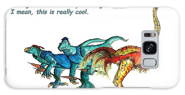 Dinosaurs Quit Drinking Go Vegetarian Galaxy Case