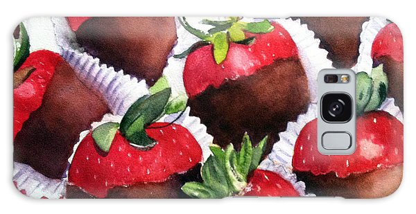 Dipped Strawberries Galaxy Case