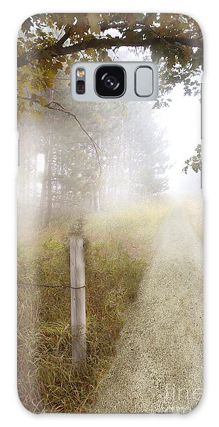 Dirt Road In Fog Galaxy Case