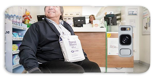 Patient Galaxy Case - Disabled Man In Pharmacy by Jim Varney