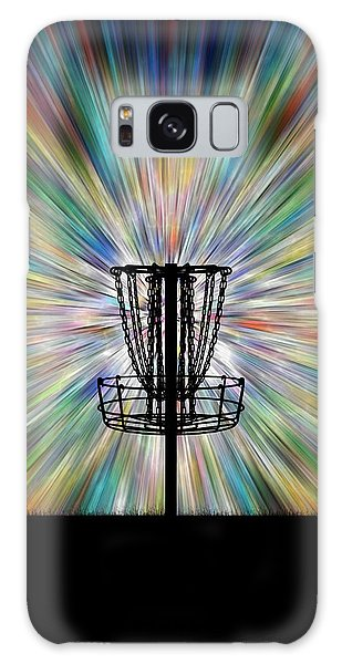 Disc Golf Basket Silhouette Galaxy Case by Phil Perkins