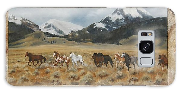 Discovery Horses Framed Galaxy Case