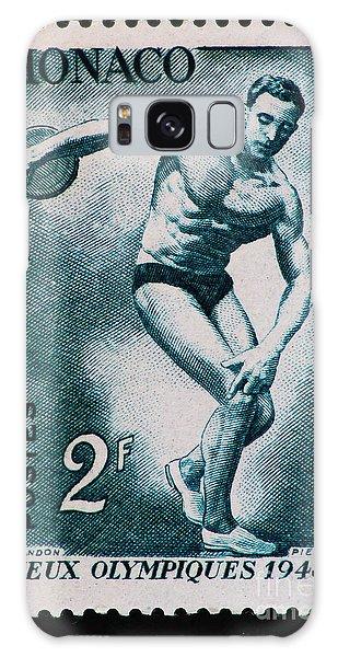 Discus Vintage Postage Stamp Print Galaxy Case