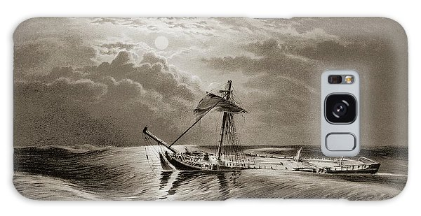 Drown Galaxy Case - Dismasted Ship After A Storm. by David Parker/science Photo Library