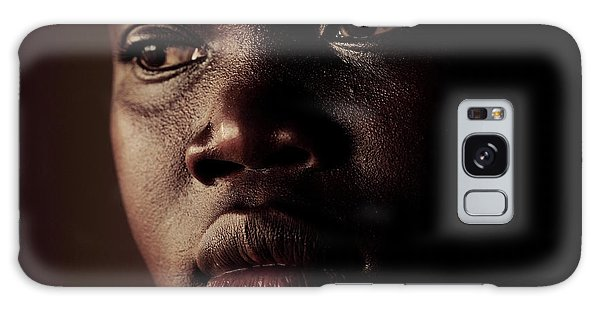 Sacred Heart Galaxy Case - Displaced Ugandan Teenager by Mauro Fermariello/science Photo Library