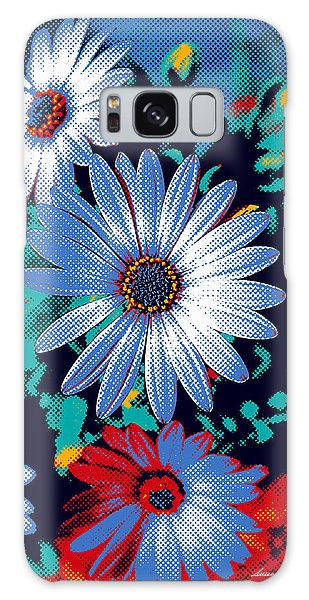 Dithered Daisies Galaxy Case