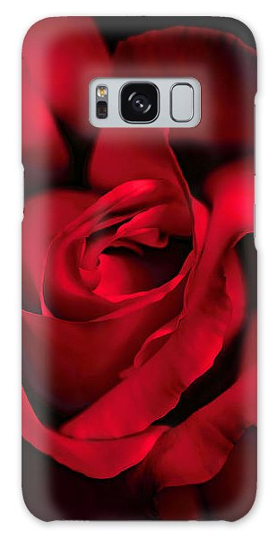 Galaxy Case featuring the photograph Haunting Red Rose Flower by Jennie Marie Schell