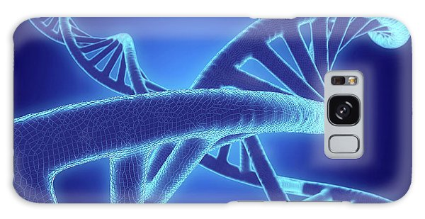 Biomedical Engineering Galaxy Case - Dna Molecules by Roger Harris/science Photo Library
