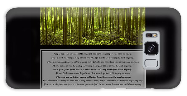 Do It Anyway Bamboo Forest Galaxy Case