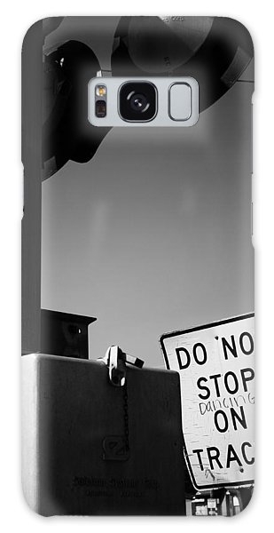 Do Not Stop Dancing On Tracks Galaxy Case by Jason Politte